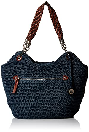 The Sak Indio Crochet Satchel, Vintage Blue  Handbags  Amazon.com 7676c78682