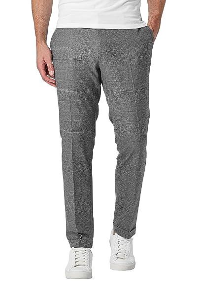 894600eb73e51 next Uomo Pantaloni alla Moda vestibilità Skinny Grigio Quadri EU 101.5  Regular (UK 40R)  Amazon.it  Abbigliamento