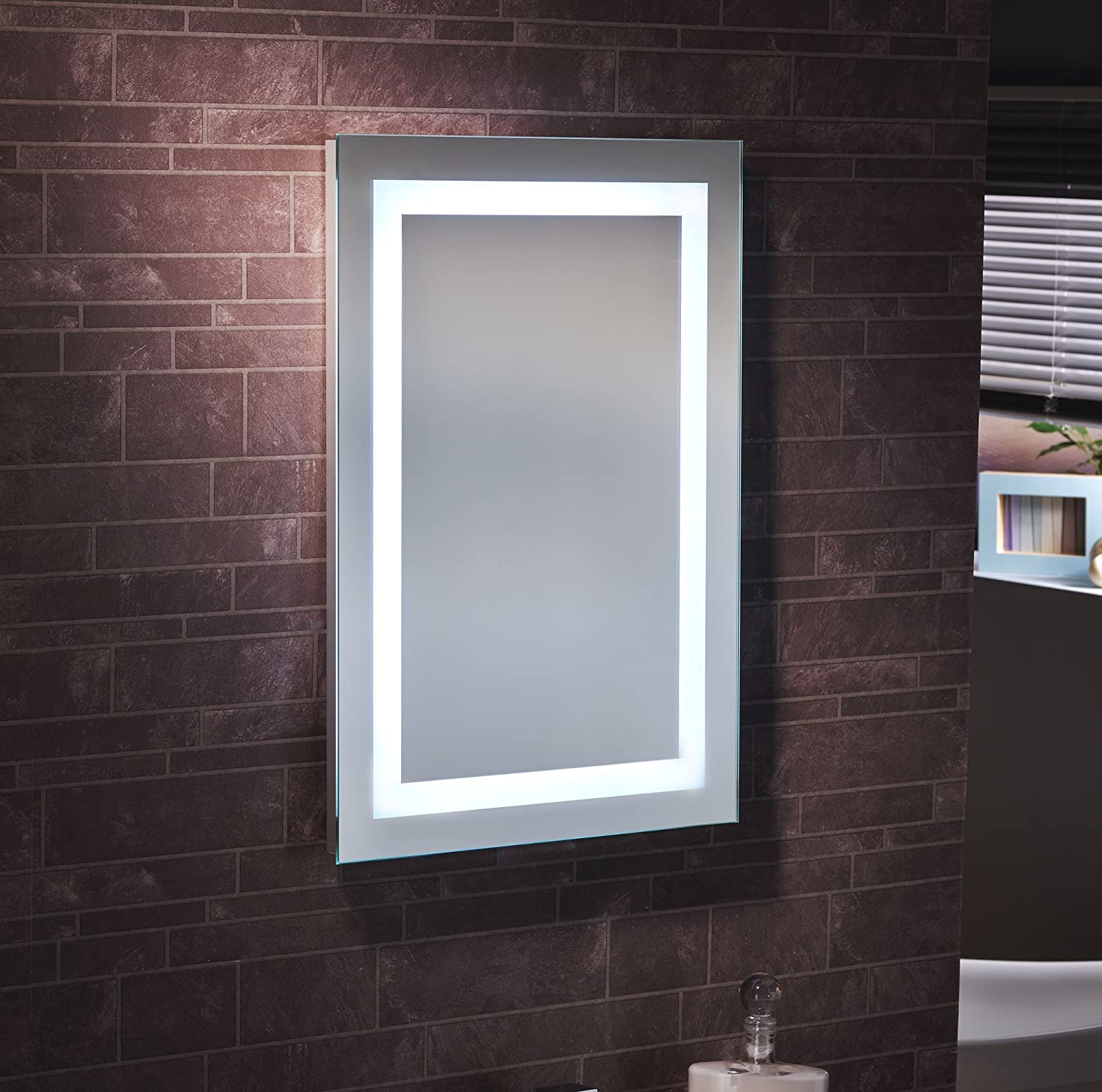 "SALE SALE ""Sotto"" Illuminated Bathroom Rectangular Battery Powered"