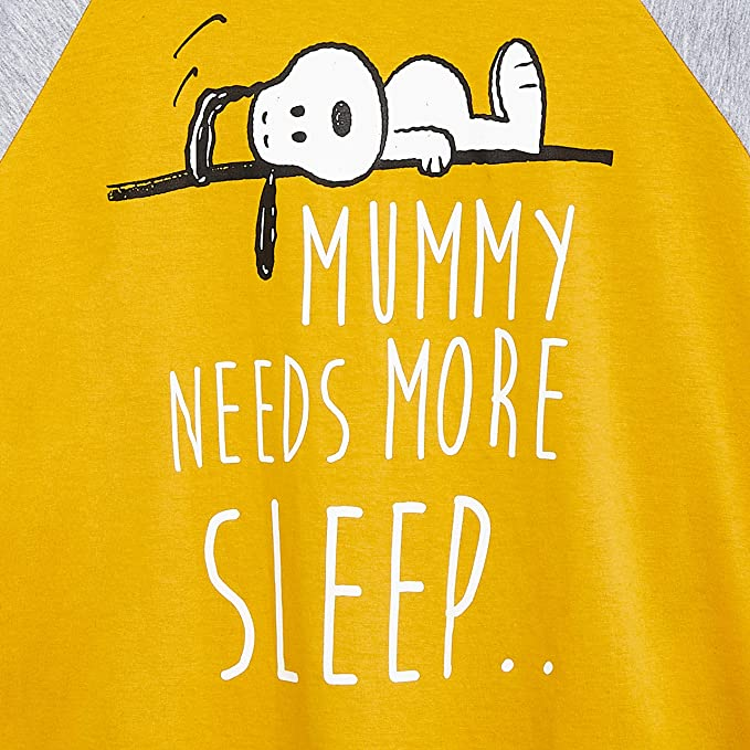Conjunto Pijama Mujer de 2 Piezas Ropa Mujer Algod/ón Suave 100/% Peanuts Snoopy Pijamas Mujer Regalos para Mujer Chicas Adolescentes Camiseta Manga Francesa y Pantalon Largo
