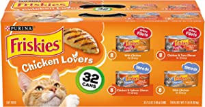 Friskies Purina Chicken Lovers Cat Food Variety Pack 32-5.5 oz. Cans