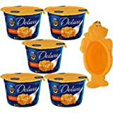 Kraft Deluxe Macaroni and Cheese Bundle - 2.39 Ounce Single Serve Microwavable Bowls (Pack of 5) - with Limited Edition Kraft Jurassic Dino Bowl
