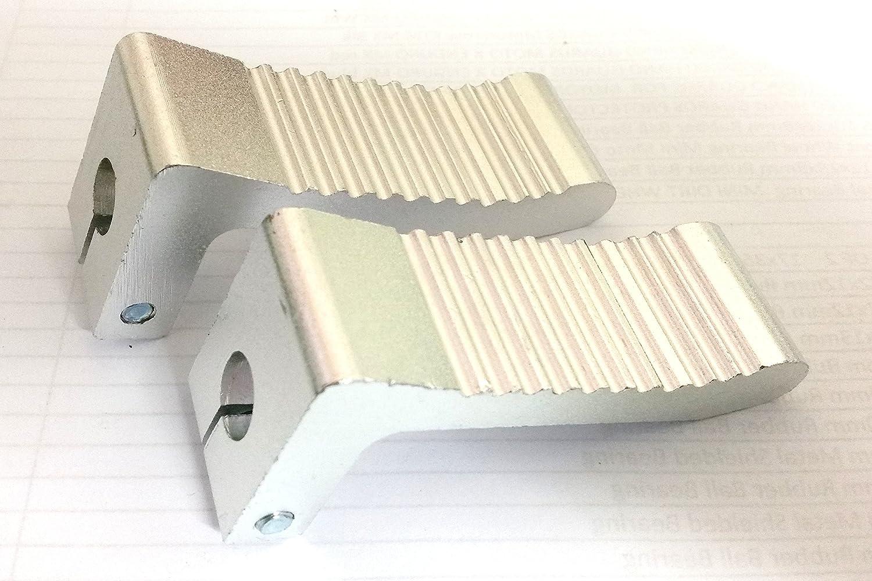 Orange Imports FP010 color plateado Pinzas antideslizantes para pie para moto mini de 49 cc