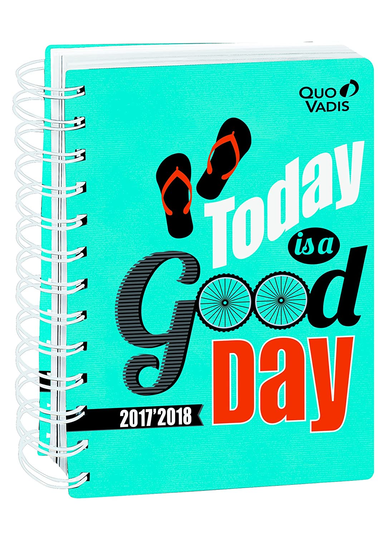 Quo Vadis atteggiamento positivo eurotex Agenda Giornaliera Spirale 12 x 17 cm Blu anno 2017 –  2018 1281021Q