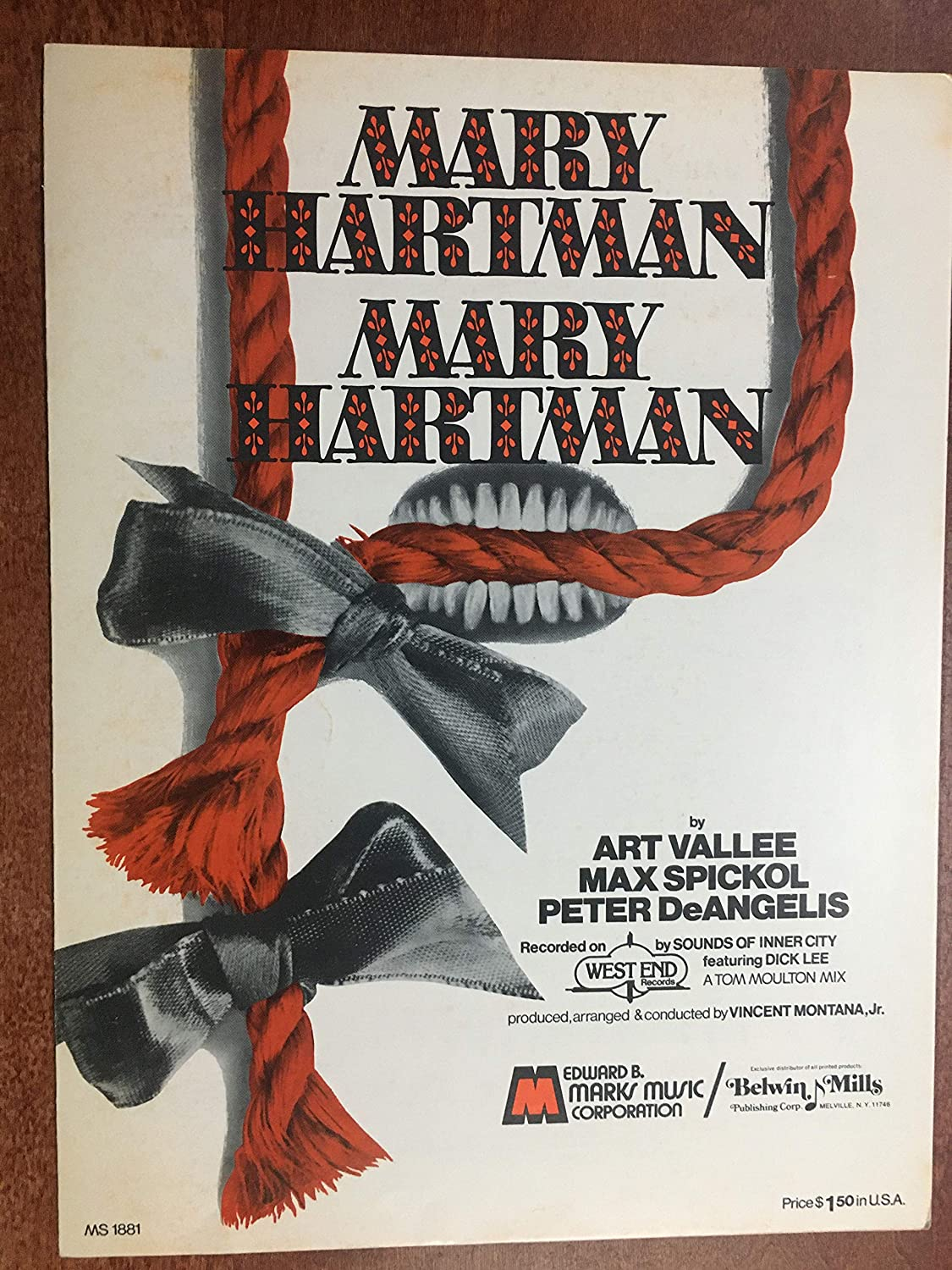 Mary Hartman Mary Hartman Theme Music Art Vallee Sheet Music 1976 Excellent Condition From The Tv Series With Louise Lasser Rare Sheet Music Excellent Condition At Amazon S Entertainment Collectibles Store