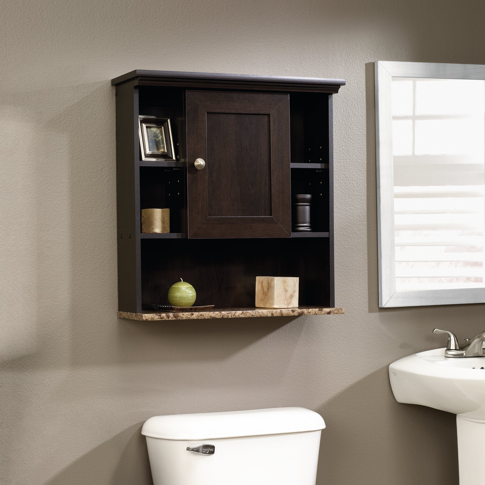 Sauder Wall Cabinet, Cinnamon Cherry Finish by Sauder (Image #3)