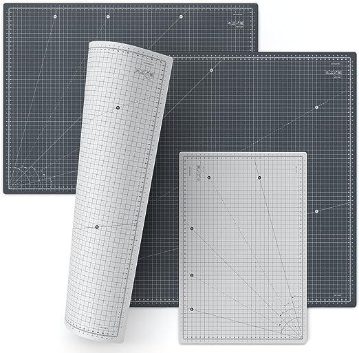 Scrapbooking Decoupage Spessore 3mm Cucito Creativo Per Patchwork ARTEZA Tappetino da Taglio Autorigenerante Griglia Girevole Professionale in Centimetri Base di Taglio Formato A3 45 x 30 cm