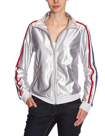 adidas - Sudadera para Mujer, tamaño 34, Color Metallic Silver