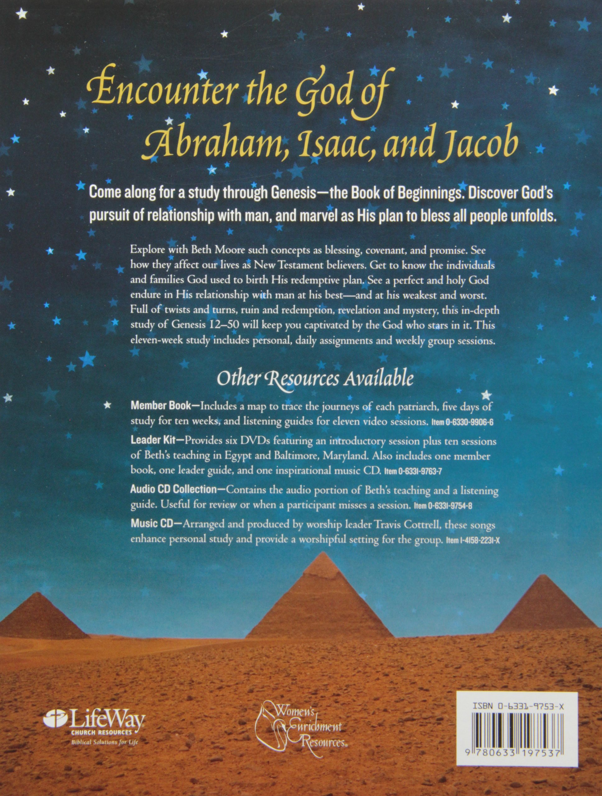 The Patriarchs - Leader Guide: Encountering the God of Abraham, Isaac, and  Jacob: Beth Moore: 9780633197537: Amazon.com: Books