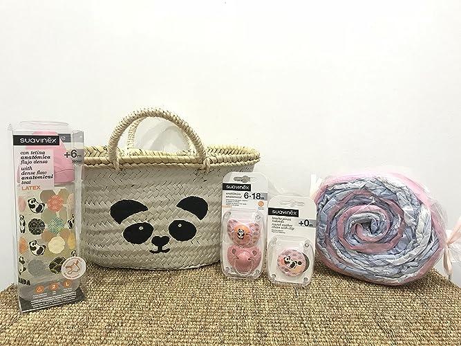 Canastilla para bebé con accesorios Suavinex + cesto pintado ...