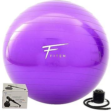 Fitem Pelota de gimnasia - 55, 65 y 75cm - Balón de gimnasia ...