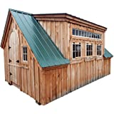 14x20 Timber Frame Post & Beam One Bay Garage Plans with