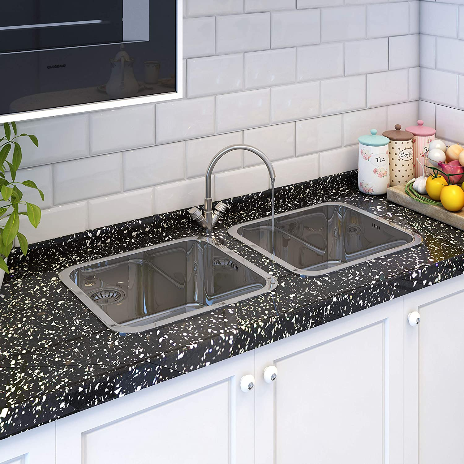 Kitchen Sink Single Bowl Stainless Steel with Reversible Drainer Waste Style 2 Square Undermount Drop-in Installation