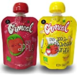 Ormeal 100% Organic Baby Food Puree Fruit for 6 Months + Baby, EU Certified, Combo (Pack of 2)