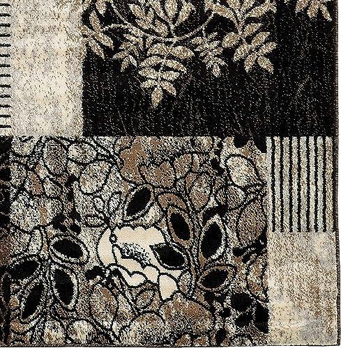 Linon Elegance 2 x 3 Marble Pattern Rug in Grey