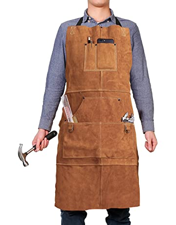 Safety Clothing Trend Mark Cowhide Leather Welded Apron Thickened And Big Size Welder Protective Apron Cowhide Protective Safety Apron