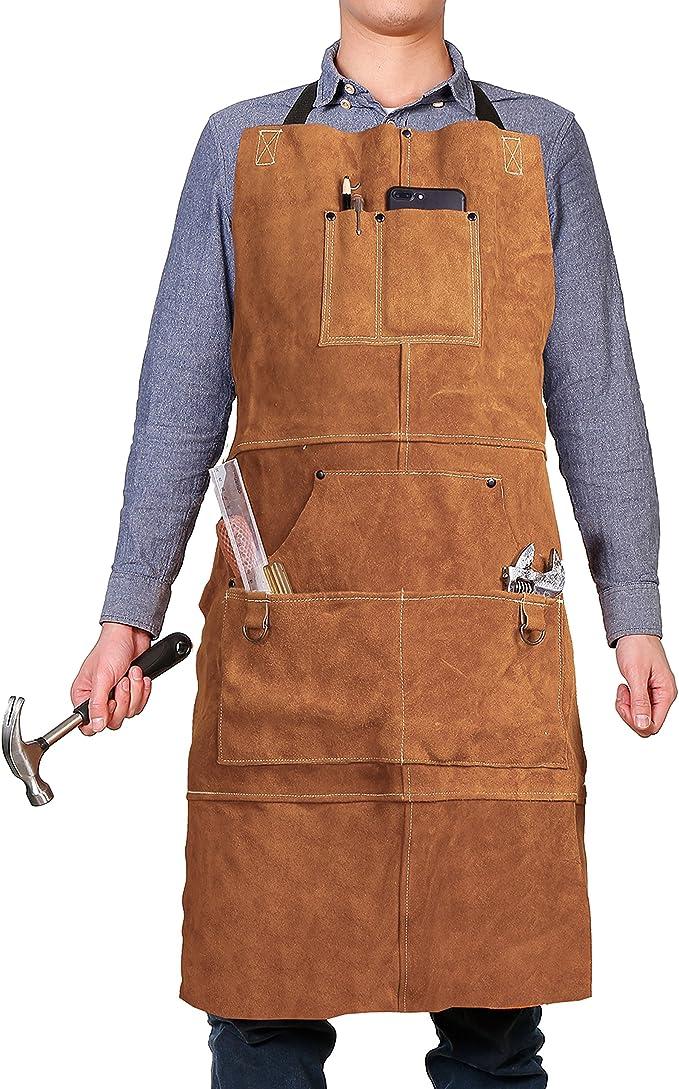 mandil de cuero para carpinteros y zapateros