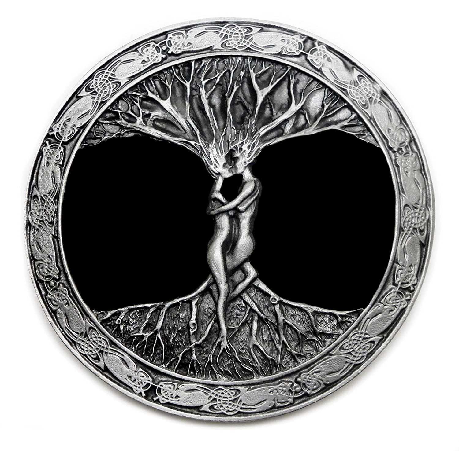 The Tree Of Life Belt Buckle Circular Detailed Artistic Design Authentic Bergamot Branded Product BER D 262 E