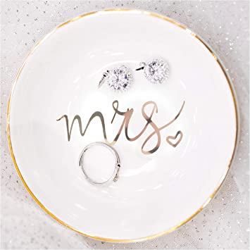 Clay Ring Dish Anniversary Gift Gifts Ring Dish Trinket Dish Handmade Gifts for Her Wedding Gift