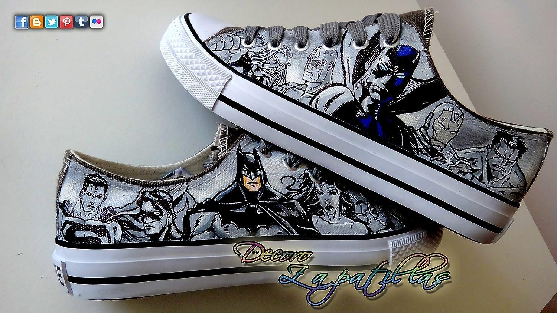 Marvel zapatillas customizadas personalizadas - superheroes Marvel DC Vengadores - regalos de cumpleaños - regalos para el - regalos para ella - aniversario ...