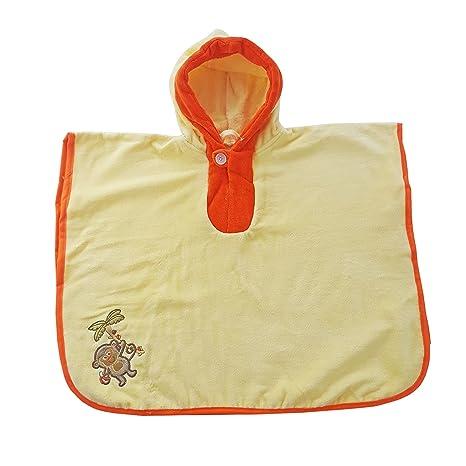 Slumbersac-Poncho de baño, toalla infantil 62 x 47 cm, diseño bordado con