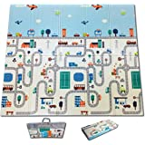 Fun N Well Foldable XPE Baby Play Mat | King Size 197x178x1cm | Non Allergenic & Non Toxic Foam | Waterproof…