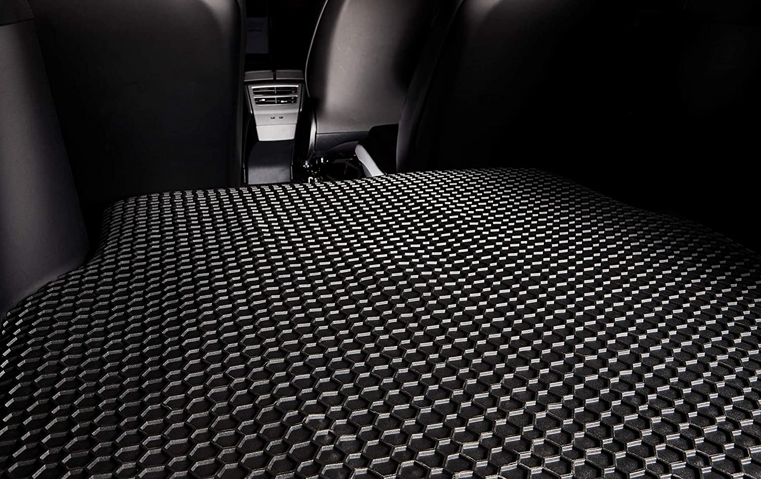 2017 2018 All Weather - Black Rubber 2020 Made in USA Heavy Duty - 2019 TOUGHPRO Cargo//Trunk Mat Compatible with Cadillac XT5