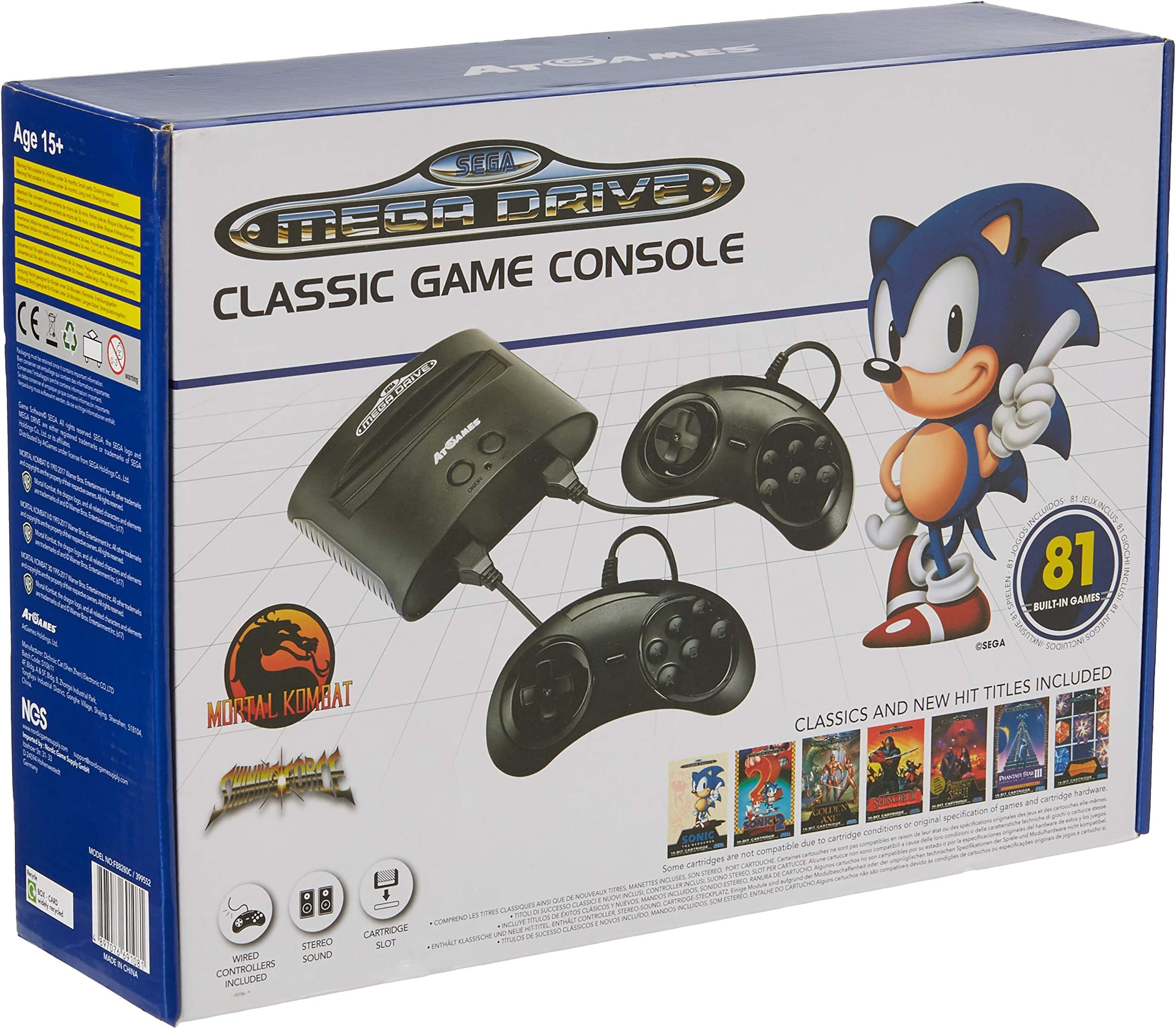 Amazon.com: Sega Genesis Classic Game Console - Sega Gear: Video Games