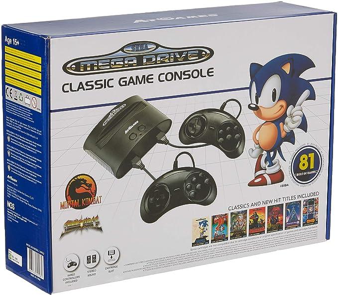 Sega Genesis Consola Retro Sega Mega Drive 81 Juegos Amazon Es