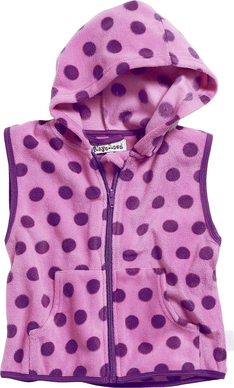 Playshoes Girls Kids Sleeveless Full Zip Fleece Vest Dots Gilet 420021