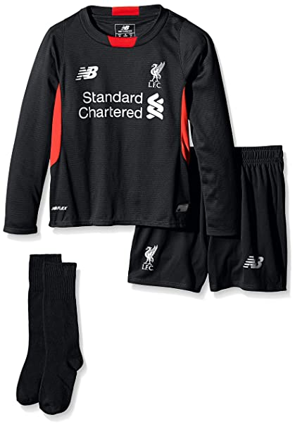 best service 1ef9a 6bb78 Amazon.com : Liverpool Kids (Boys Youth) Home Goalkeeper Kit ...