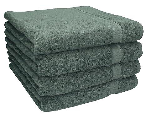 BETZ 4 toallas de lavabo PREMIUM tamaño 50x100 cm 100% algodón (gris antracita)