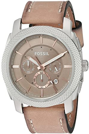 rose dial watches watch s fossil leather p light ebay tan brown gold band ladies