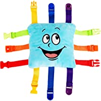 Buckle Toy - Bubbles Square - Learning Activity Toy - Develop Motor Skills and Problem Solving - Easy Travel Toy