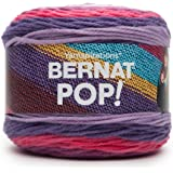 Bernat POP! Yarn (4) Medium Gauge 100% Acrylic - 5oz - Violet Vision - Machine Wash & Dry