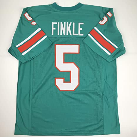 detailed pictures 9eac8 d2546 Amazon.com: Unsigned Ray Finkle Miami Green Custom Stitched ...