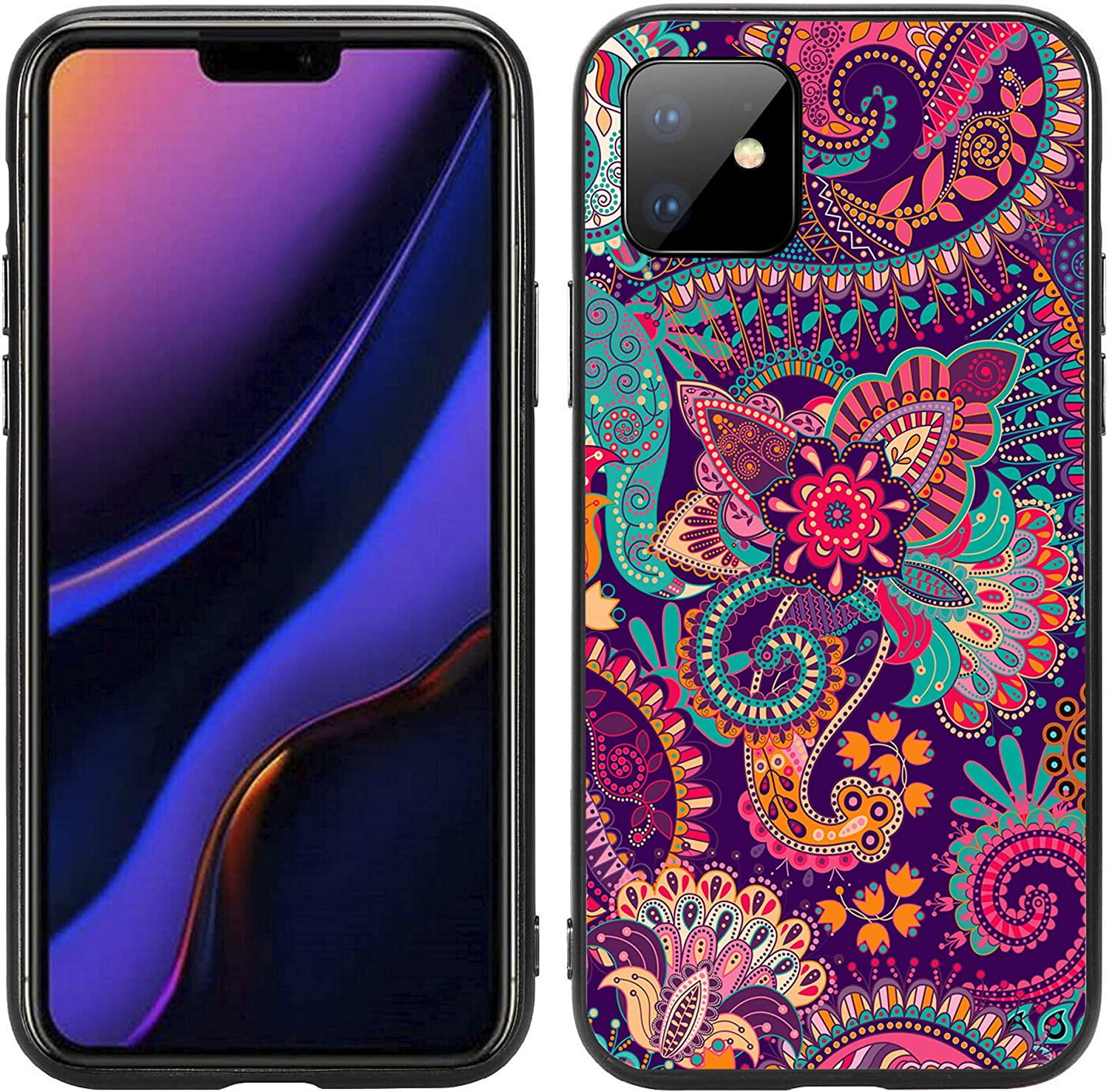 Paisley Flower Print for Oakland Mall iPhone 11 2019 Case Atomic Purchase 6.1 Cover by