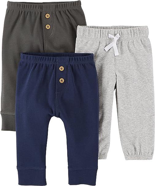 Grey//Navy 12M Carters Baby Boys 3-Pack Pants