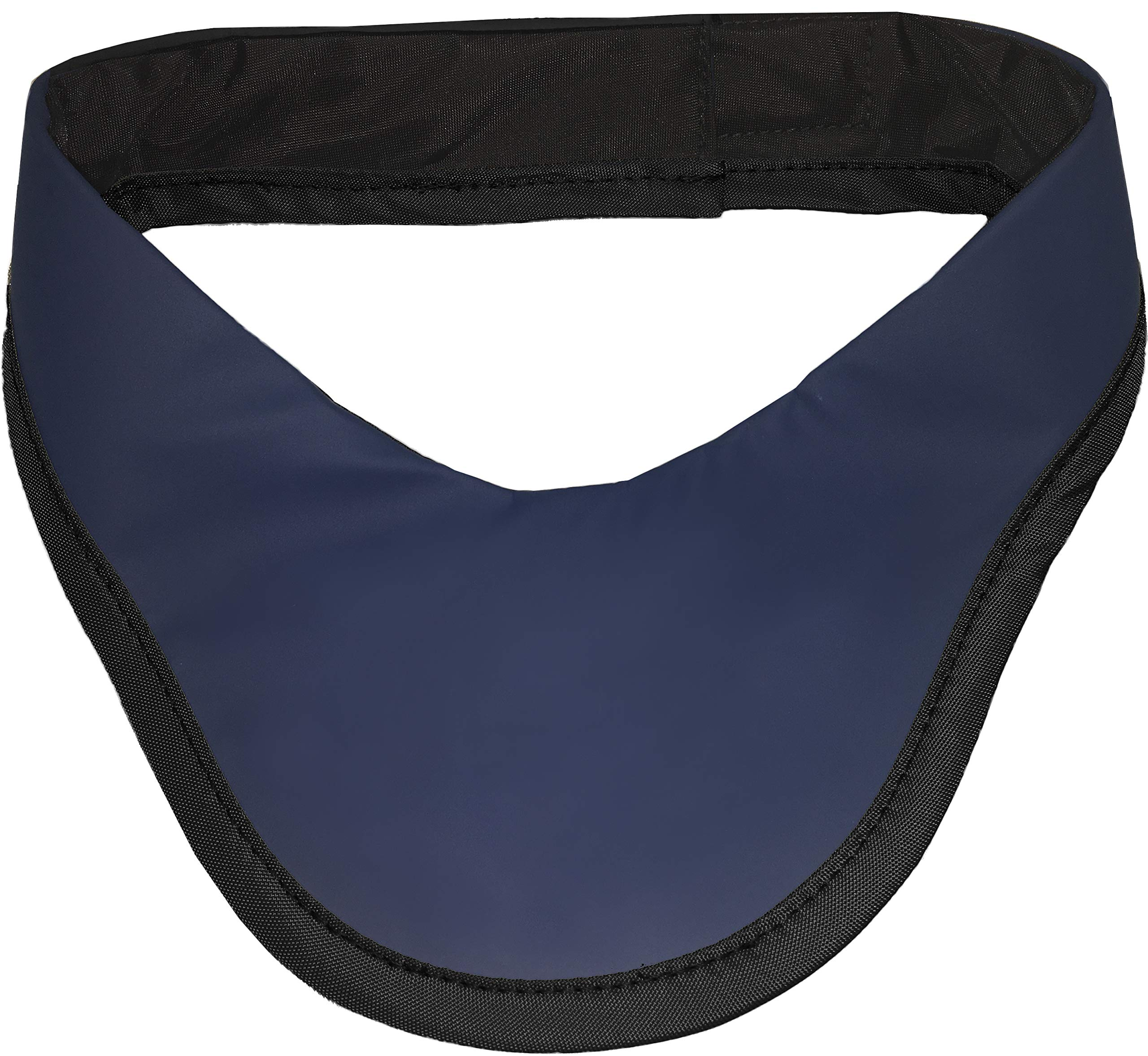 Thyroid Collar Lead Free Antibacterial Stain Resistant - Radiation Protection - Navy Blue