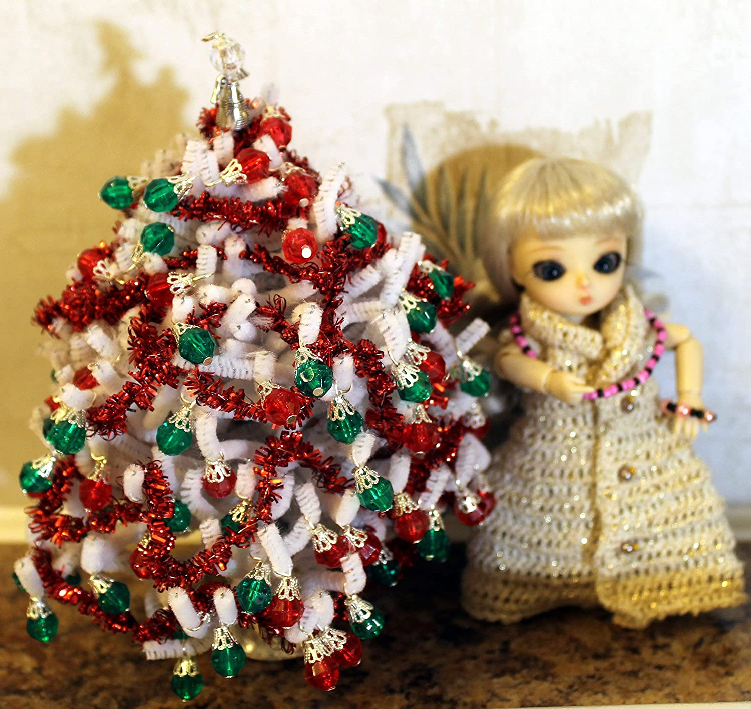 White Christmas Tree for Dollhouse 1:12 scale