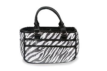 Amazon.com: Zebra Patinaje sobre hielo de lentejuelas bolsa ...