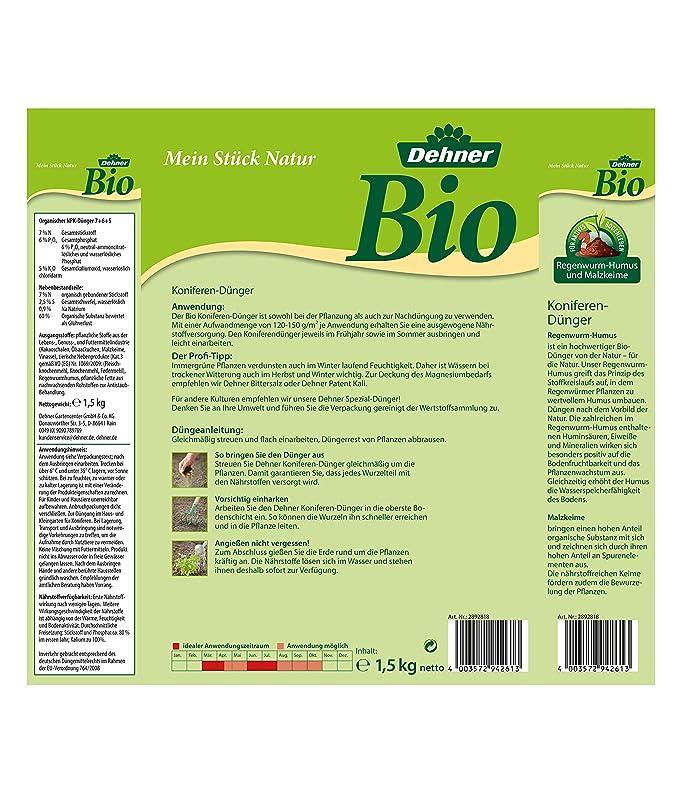 Dehner Abono ecológico para coníferas, 1, 5 kg, para aprox ...