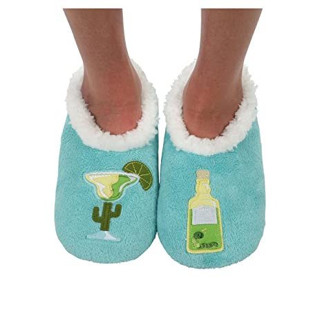 Adorable margarita slippers are perfect for when it's a bit too chilly for flip-flops. Perfect stocking stuffer!