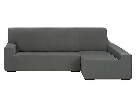 Martina Home Tunez Funda Elástica para Sofá Chaise Longue, Brazo Derecho, color Gris, tamaño desde 240 a 280 cm, tela