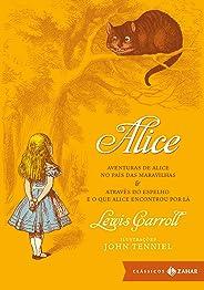 Alice: edição bolso de luxo: Aventuras de Alice no País das Maravilhas & Através do Espelho e o que Alice encontrou por lá (