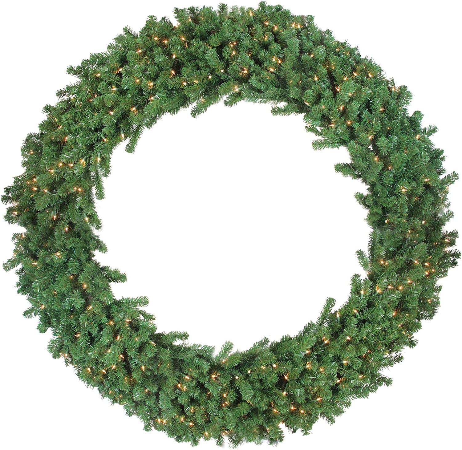 Northlight Pre Lit Deluxe Windsor Pine Artificial Christmas Wreath 60 Inch Clear Lights Home Kitchen