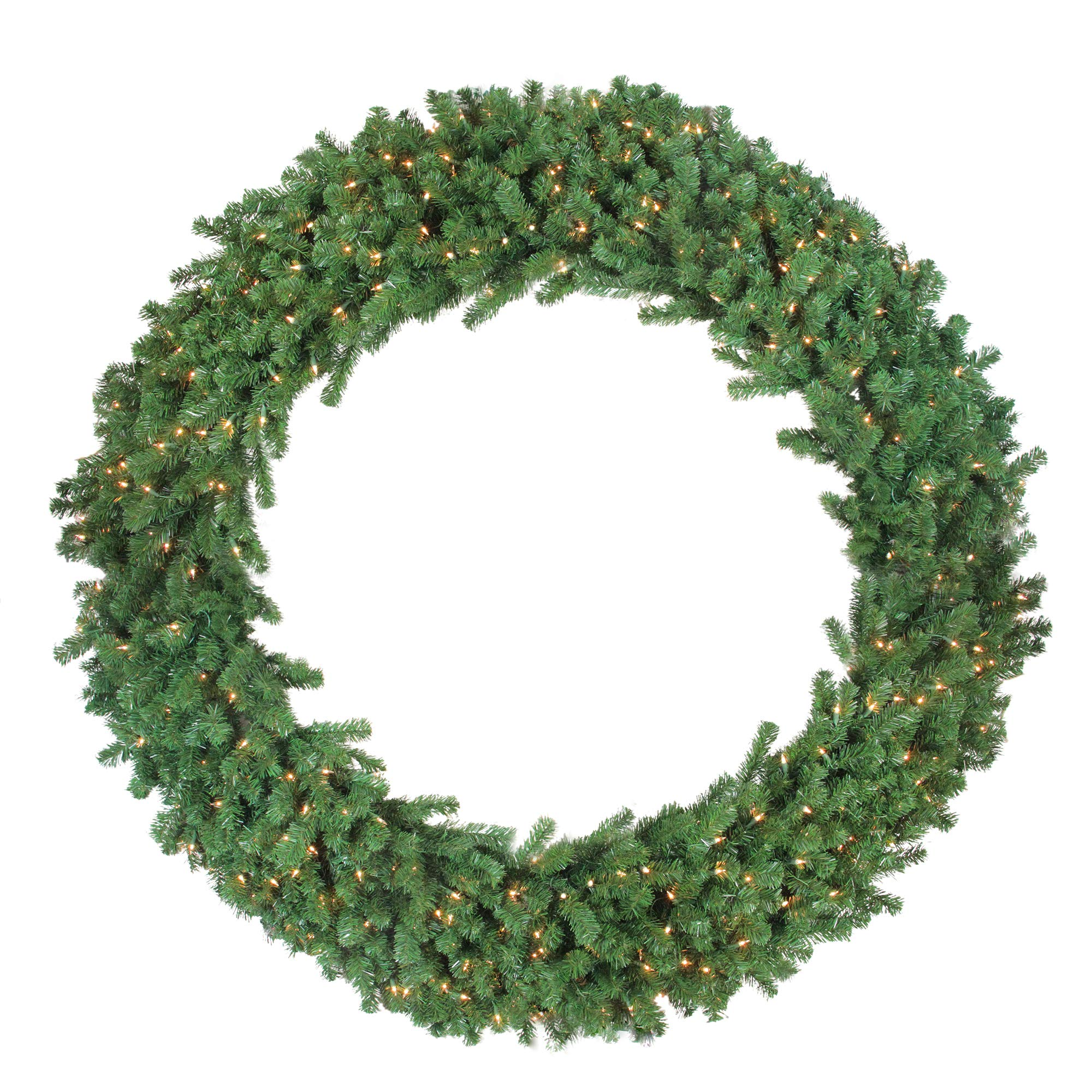 Northlight Deluxe Windsor Pine Artificial Christmas Wreath – 60-inch, Clear Lights