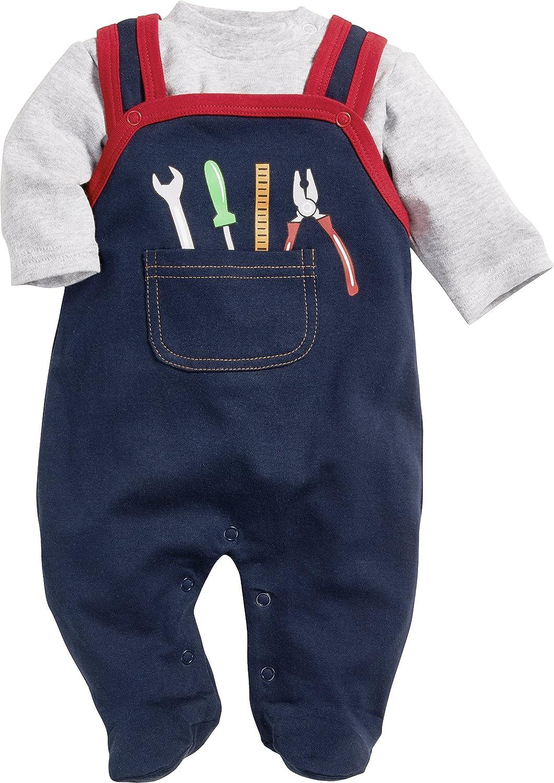 Playshoes Baby-Jungen Set Heimwerker Strampler