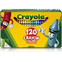 Crayola Crayon Box with Sharpener, 120 Colours, Gift, Creativity, Art and Craft, Kindergarten, Pre-School, Christmas, Non Toxic