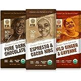 K'UL CHOCOLATE Bars | 3 Pack Chocolate | Espresso & Cacao Nibs Chocolate Bar | Pure Dark Chocolate | Wild Ginger…